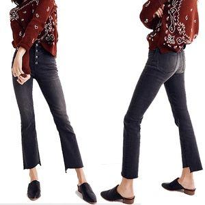 Madewell Cali Demi-Boot Jeans Asymmetrical Hem 27